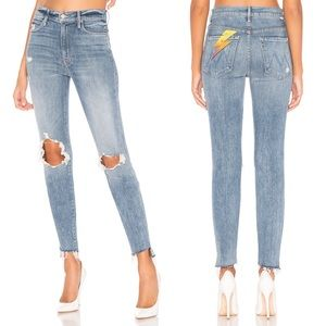 MOTHER DENIM Stunner Ankle Step Fray Skinny Jeans